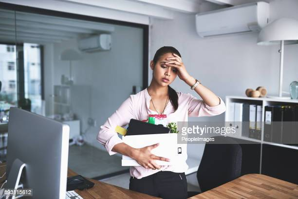 it's the most stressful thing that could happen to anyone - dismissal stock photos and pictures