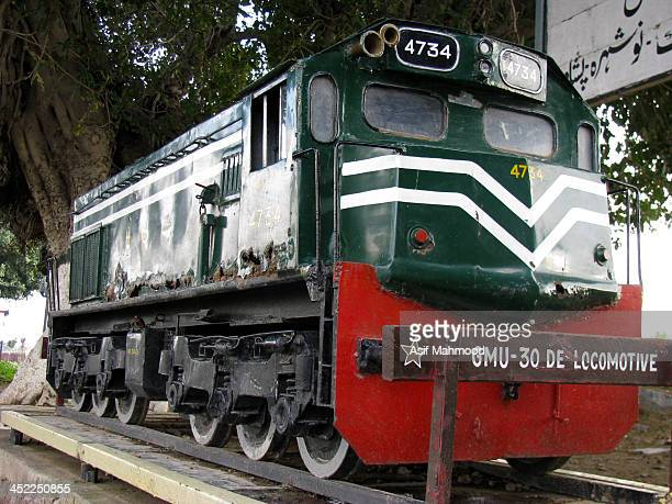 Its the photo of an old locomotive engine which has been used in sub-continent during the British era. Most of the engines being used later on as...