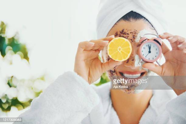 it's time for my skin. - exfoliation stock pictures, royalty-free photos & images