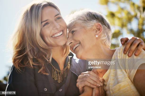 it's true what they say about that bond… - mother daughter stock photos and pictures