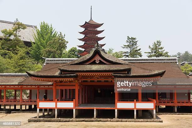 Santuario shintoista Itsukushima sull'Isola di Miyajima in Giappone