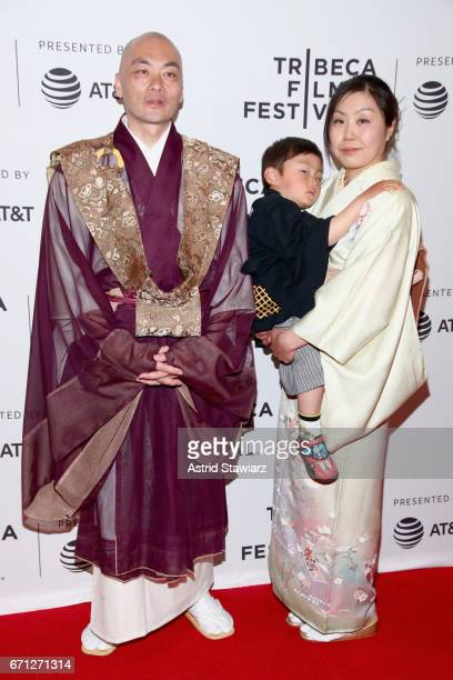 Ittetsu Nemoto Teppei Nemoto and Yukiko Nemoto attend The Departure Premiere during 2017 Tribeca Film Festival at Cinepolis Chelsea on April 21 2017...