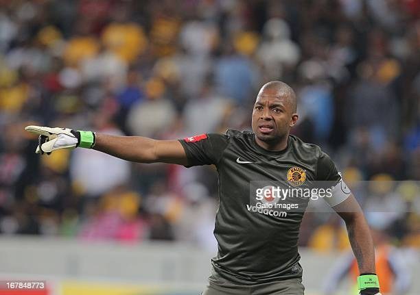 Itumeleng Khune of Kaizer Chiefs during the Absa Premiership match between Ajax Cape Town and Kaizer Chiefs at Cape Town Stadium on May 01, 2013 in...