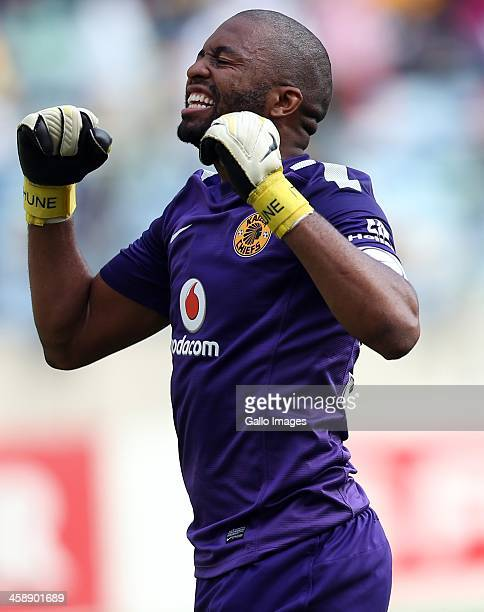 Itumeleng Khune of Kaizer Chiefs during the Absa Premiership match between AmaZulu and Kaizer Chiefs at Moses Mabida Stadium on December 22, 2013 in...