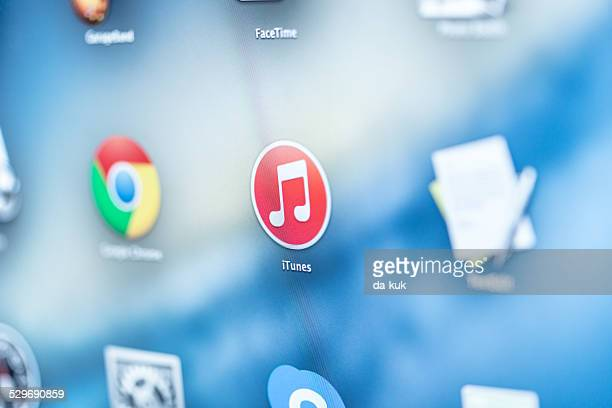 iTunes-Symbol auf dem Display