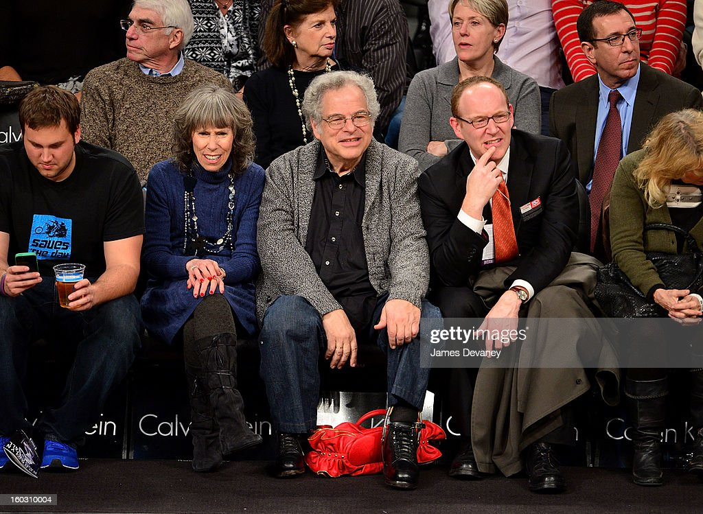 Itzhak Perlman attends the Orlando Magic vs Brooklyn Nets game at Barclays Center on January 28, 2013 in the Brooklyn borough of New York City.