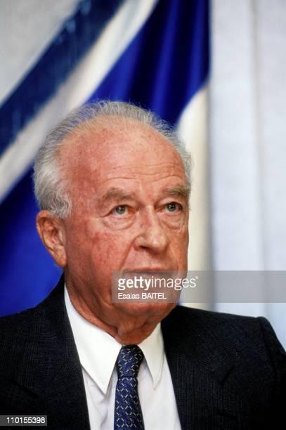 Itzhak Rabin : PLO gratitude in Jerusalem, Israel on September 10, 1993.