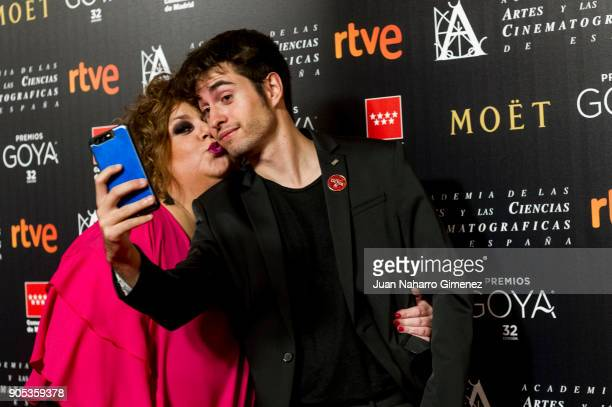 Itziar Castro and Eloy Costa attend the Goya cinema awards candidates 2018 meeting at Casa de Correos on January 15 2018 in Madrid Spain