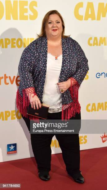 Itziar Castro attends 'Campeones' premiere at Kinepolis cinema on April 3 2018 in Madrid Spain