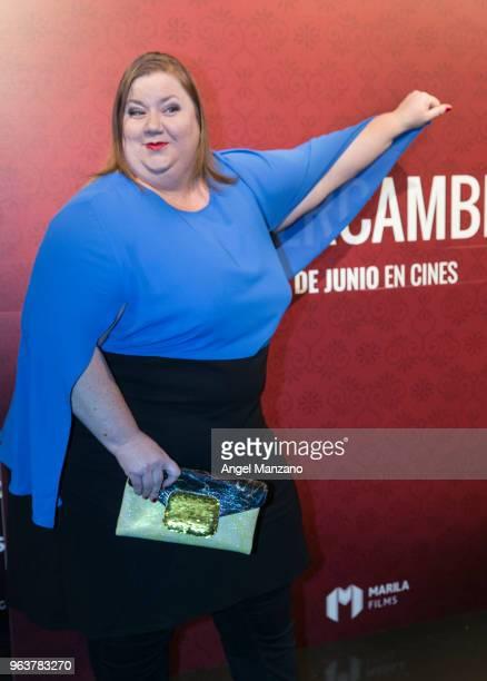 Itziar Castro attends 'El Intercambio' Madrid Premiere on May 30 2018 in Madrid Spain
