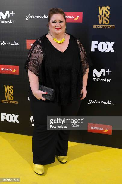 Itziar Castro attends the premiere of 'Vis a Vis' at Capitol Cinema on April 19 2018 in Madrid Spain