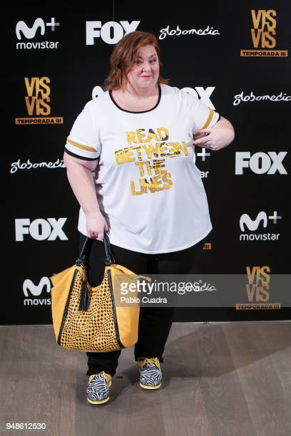 Itziar Castro attends the 'Vis A Vis' photocall at VP Plaza de Espana Hotel on April 19 2018 in Madrid Spain