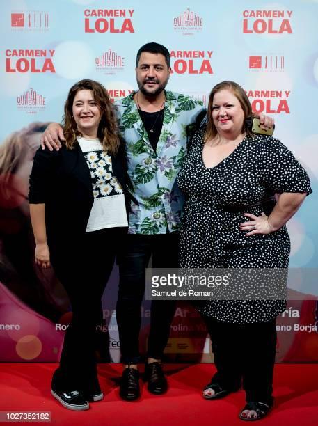 Itziar Castro Benja de la Rosa and Mariona Teres attend Carmen Y Lola' Madrid Premiere on September 5 2018 in Madrid Spain