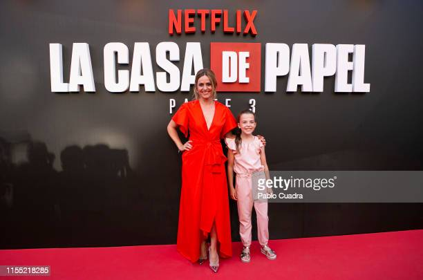 Itziar Ituno and Naia Guz attend the red carpet of 'La Casa De Papel' 3rd Season by Netflix on July 11 2019 in Madrid Spain
