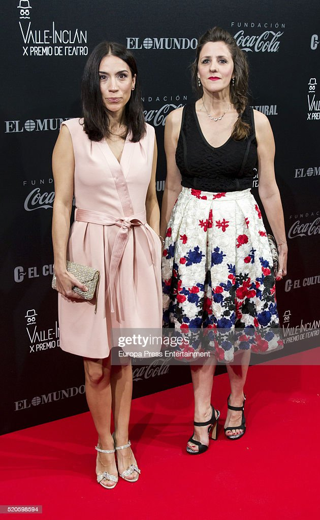 Itziar Miranda and Lorena Berdun (R) attend the Valle-Inclan Theatre Awards at Teatro Real on April 11, 2016 in Madrid, Spain.