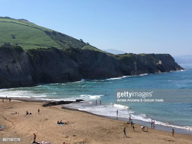 Itzurun beach in Zumaia, Basque Country