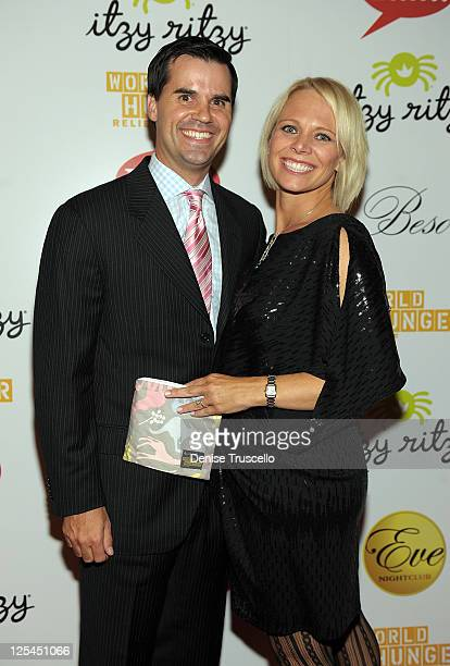 Itzy Ritzy CoCeo Brian Douglas and Itzy Ritzy CoCeo Kelly Douglas attend World Hunger Relief Fundraiser for UN World Food Program at Eve Nightclub on...