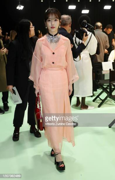 Iu is seen backstage at the Gucci Backstage during Milan Fashion Week Fall/Winter 2020/21 on February 19, 2020 in Milan, Italy.