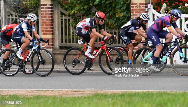 Iulia Galimullina of Russia and Cogeas Mettler Look Pro Cycling Team / Trixi Worrack of Germany and Team Trek- Segafredo / Danique Braam of The...
