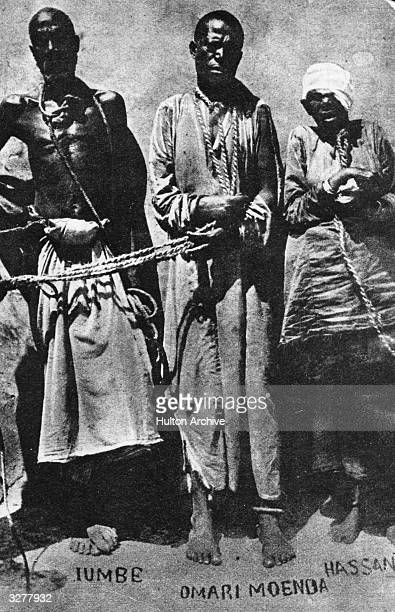 Iumbe Omari Moenda and Hassan three captured ArabAfrican slave traders The colonial powers ceased to tolerate slavery early in the 19th century but...