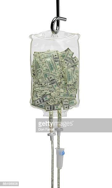 iv bag full of money