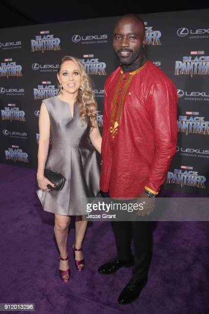 Iva Colter and actor Mike Colter at the Los Angeles World Premiere of Marvel Studios' BLACK PANTHER at Dolby Theatre on January 29 2018 in Hollywood...