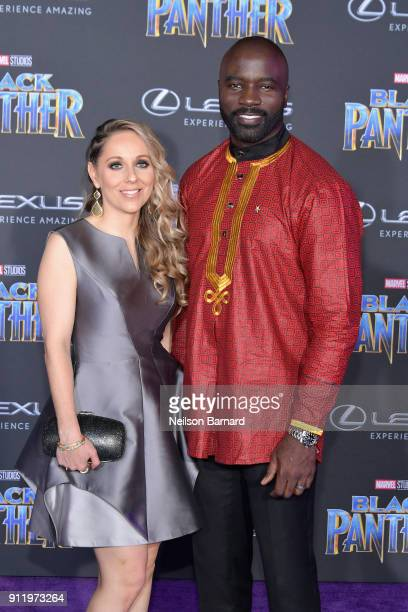 Iva Colter and actor Mike Colter attends the premiere of Disney and Marvel's 'Black Panther' at Dolby Theatre on January 29 2018 in Hollywood...