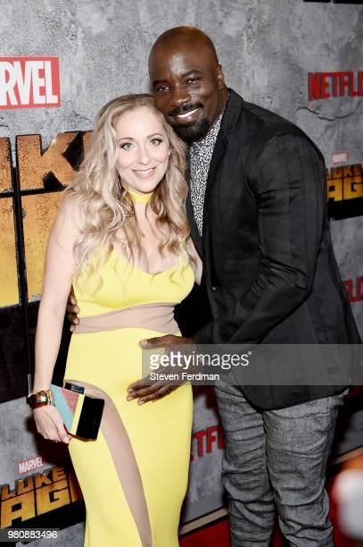 Iva Colter and Mike Colter attend the 'Luke Cage' Season 2 premiere at The Edison Ballroom on June 21 2018 in New York City