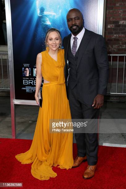 Iva Colter and Mike Colter attend the premiere of 20th Century Fox's Breakthrough at Westwood Regency Theater on April 11 2019 in Los Angeles...