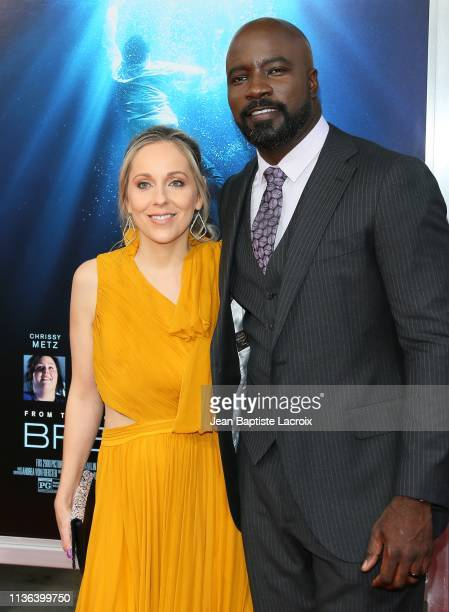 Iva Colter and Mike Colter attend the premiere of 20th Century Fox's 'Breakthrough' at Westwood Regency Theater on April 11 2019 in Los Angeles...