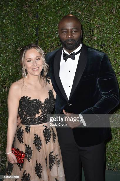 Iva Colter and Mike Colter attends the 49th NAACP Image Awards Arrivals at Pasadena Civic Auditorium on January 15 2018 in Pasadena California