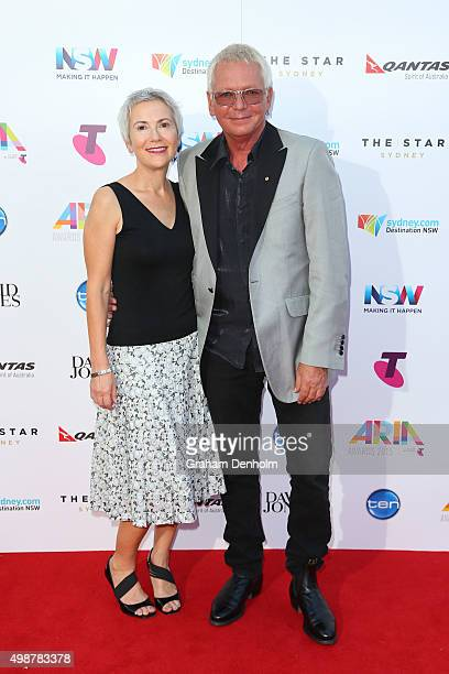 Iva Davies arrives for the 29th Annual ARIA Awards 2015 at The Star on November 26 2015 in Sydney Australia