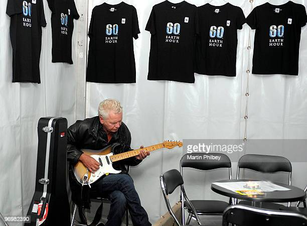 Iva Davies backstage at Earth Hour concert in Fedeartion Square on 28th March 2009 in Melbourne Australia