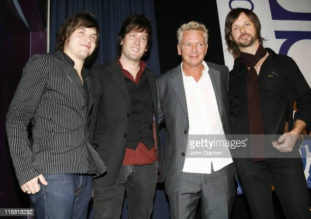 Iva Davies of Icehouse and Eskimo Joe during 2006 ARIA Nominations at Art Gallery of NSW in Sydney NSW Australia