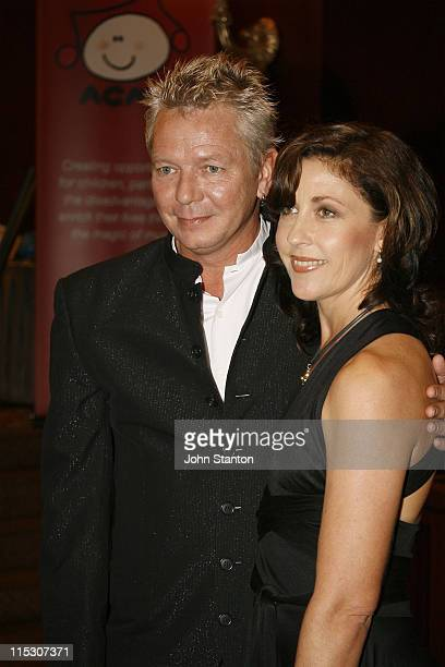Iva Davies of Icehouse and wife Tonia during Australian Childrens Music Foundation's Music for Children Ball July 15 2006 at Four Seasons Hotel in...