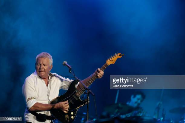 Iva Davies of Icehouse performs during Fire Fight Australia at ANZ Stadium on February 16 2020 in Sydney Australia