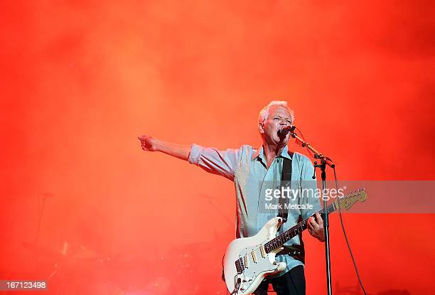 Iva Davies of Icehouse performs on stage during 2013 STONE Music Festival at ANZ Stadium on April 21 2013 in Sydney Australia