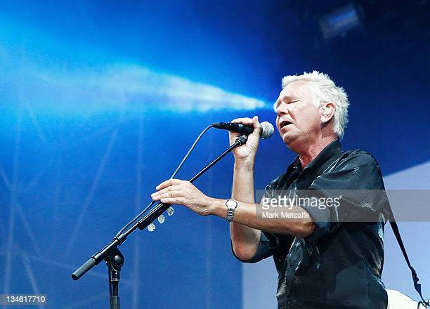 Iva Davies of Icehouse performs on stage during the Homebake Music Festival on December 3 2011 in Sydney Australia