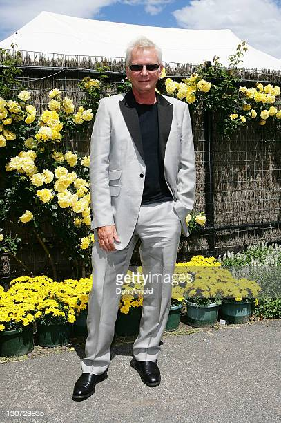 Iva Davies poses during Derby Day at Flemington Racecourse on October 29 2011 in Melbourne Australia