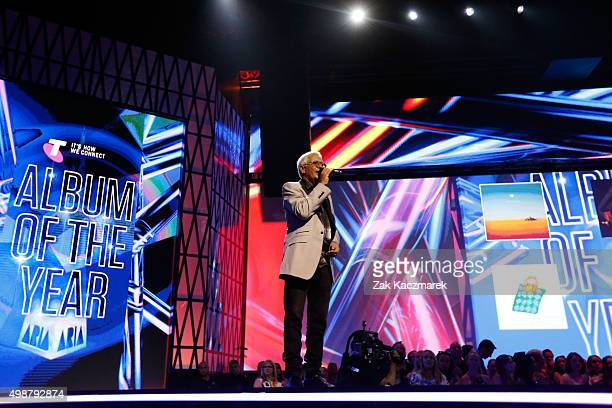 Iva Davies presents on stage during the 29th Annual ARIA Awards 2015 at The Star on November 26 2015 in Sydney Australia