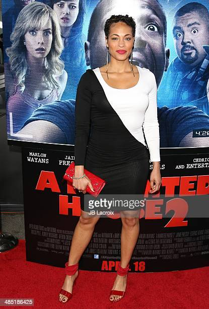 Iva La'Shawn attends A Haunted House 2 Los Angeles premiere held at Regal Cinemas LA Live on April 16 2014 in Los Angeles California