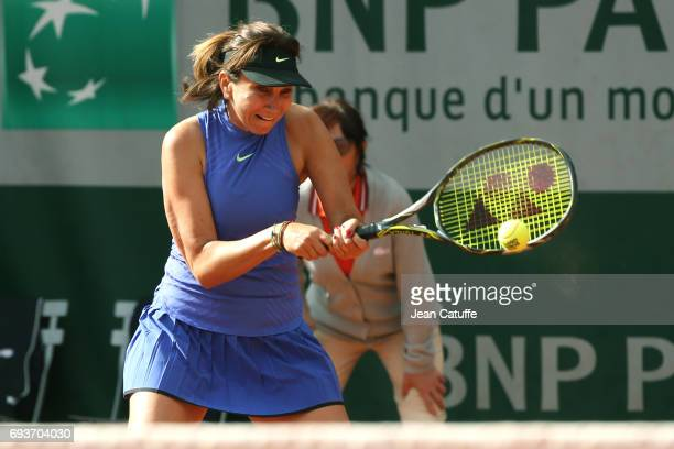 Iva Majoli of Croatia participates at the Tournoi des Legendes on day 11 of the 2017 French Open second Grand Slam of the season at Roland Garros...