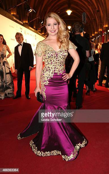 Iva MihanovicSchell wearing a dress by Rhonda Shear during the Filmball Vienna 2015 on March 14 2015 in Vienna Austria