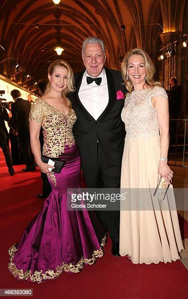 Iva MihanovicSchell wearing a dress by Rhonda Shear Edi Finger Designer Erika Suess during the Filmball Vienna 2015 on March 14 2015 in Vienna Austria