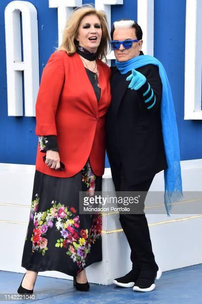 Iva Zanicchi and Cristiano Malgioglio attends Grande Fratello 16 photocall at the Cineccitta' studios Rome April 16th 2019