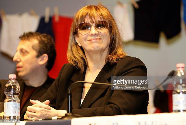 Iva Zanicchi attends the In Mutande Ma Vivi demonstration held at Teatro Dal Verme on February 12 2011 in Milan Italy In mutande ma vivi is a...