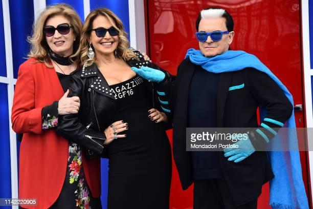 Iva Zanicchi Barbara D'Urso and Cristiano Malgioglio attends Grande Fratello 16 photocall at the Cineccitta' studios Rome April 16th 2019