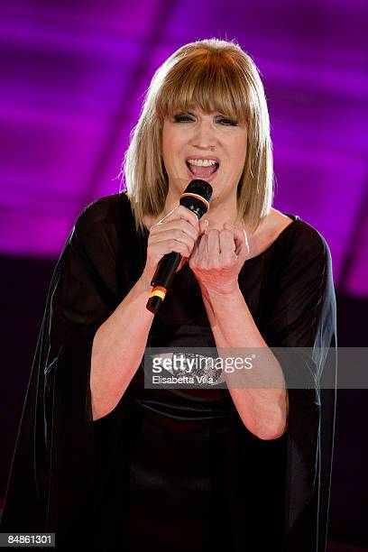 Iva Zanicchi performs onstge on opening night of the 59th San Remo Song Festival at the Ariston Theatre on February 17 2009 in San Remo Italy
