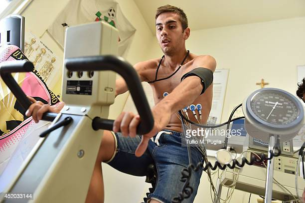 Ivajlo Cocev the new player joining US Citta di Palermo takes part in medical tests on July 10 2014 in Palermo Italy