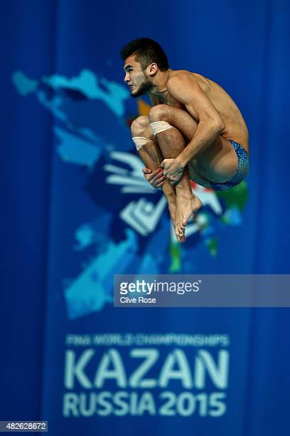 Ivan A Garcia Navarro of Mexico competes in the Men's 10m Platform Diving Preliminary on day eight of the 16th FINA World Championships at the...